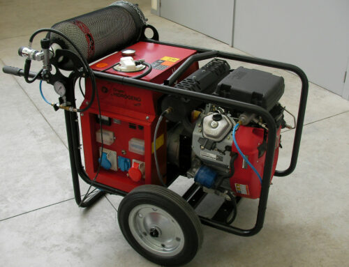 Conversion of a gasoline engine-generator set to a bi-fuel (hydrogen/gasoline) electronic fuel-injected power unit